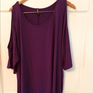 Allegrace Tops - NWOT - Purple Women's Size 2x Cold Shoulder Shirt